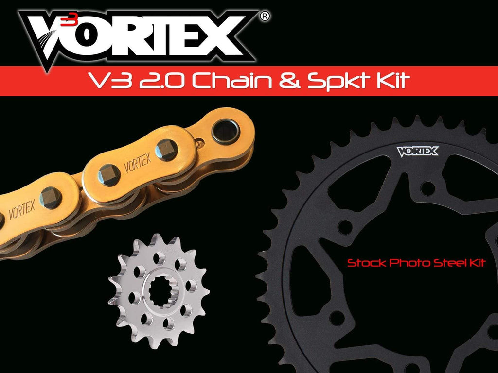 Vortex Racing Motorcycle Chain & Sprocket Kits Vortex Gold WSS G530SX3-120 Chain and Sprocket Kit 17-47 Tooth - CKG6153
