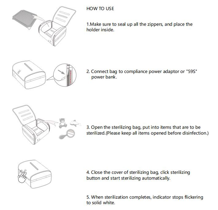59s UV Steriliser Toy Box User Manual instruction | Not Too Big
