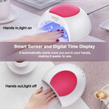 SUNUV SUN2C 48W LED UV nail Lamp with 4 Timer Setting - 59s.us