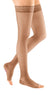 mediven sheer & soft, 30-40 mmHg, Thigh High with Lace Top-band, Open Toe