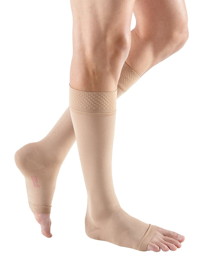 mediven forte, 40-50 mmHg, calf with silicone topband, Open Toe