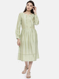 Pastel Green Classic Dress - AS0100 - Asmi Shop