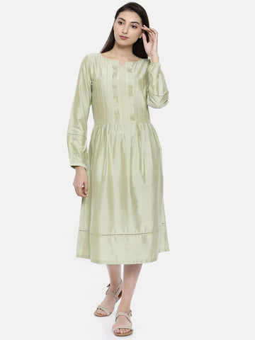Pastel Green Classic Dress - AS0100