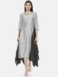 Silver Grey Fish Tail Dress - AS0110 - Asmi Shop
