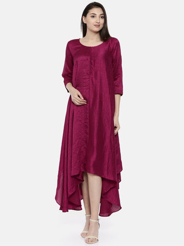 Wine Potli Classic Dress - AS0118