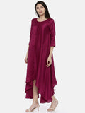 Wine Potli Classic Dress - AS0118 - Asmi Shop