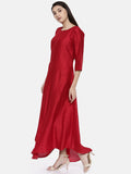 Red Classic Long Dress - AS0120 - Asmi Shop