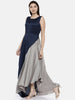 Blu/Grey Drape Dress - AS0122