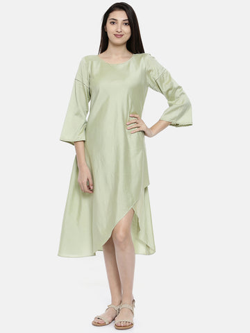 Pastel Green Classic Cut Dress - AS0126