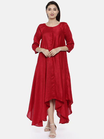 Potli Red Classic Dress - AS0131