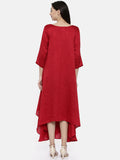 Potli Red Classic Dress - AS0131 - Asmi Shop