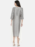 Silver Wht Tail Dress - AS0133 - Asmi Shop
