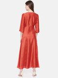 Rust Orange Dress - AS0151 - Asmi Shop