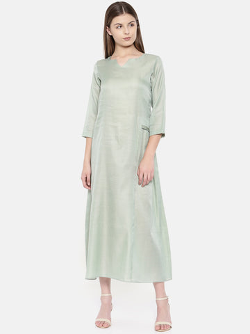 Pastel Green Classic Dress - AS0154