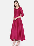 Wine Silk Blend Cocktail Dress - AS0165 - Asmi Shop