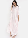 Baby pink waterfall hem maxi  - AS0307 - Asmi Shop