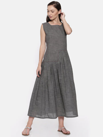 Grey Cotton Dress - AS032