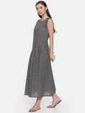 Grey Cotton Dress - AS032 - Asmi Shop