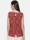 Ikat Weave Short Top- AS038 - Asmi Shop