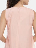 Pink Cotton Silk Asymmetrical Dress -  AS0406