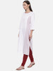 Linen White Kurti - AS045