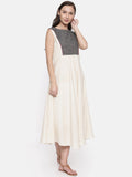 Asymetrical Cotton Dress - AS048 - Asmi Shop