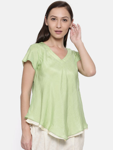 Double Layered Mul Cotton Top - AS050