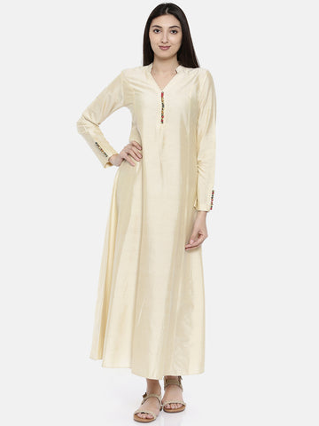 Beige Potli Dress - AS097