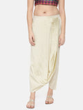 Beige cotton silk Dhoti style pants - ASDP004 - Asmi Shop