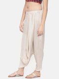 Off white Crushed silk Dhoti style pants - ASDP007 - Asmi Shop
