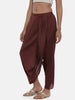 Brown, Cotton silk, Dhoti pant - ASDP020