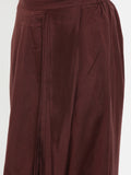 Brown, Cotton silk, Dhoti pant - ASDP020 - Asmi Shop