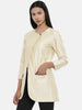 Beige,Cotton Silk,thigh lengthjacket - ASJ044