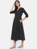 Black Ikat Dress-AS049 - Asmi Shop