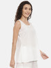 White Cotton Nightwear - ASNW001