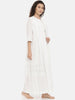 White Cotton Nightwear - ASNW002