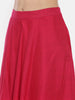 Pink Silk Cotton Pleated Skirt - ASSK006