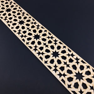 Moroccan Decorative Laser Cut Craft Wood Work Border Panel (B-002)