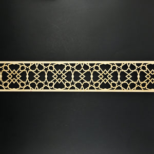 Moroccan Decorative Laser Cut Craft Wood Work Border Panel (B-005)