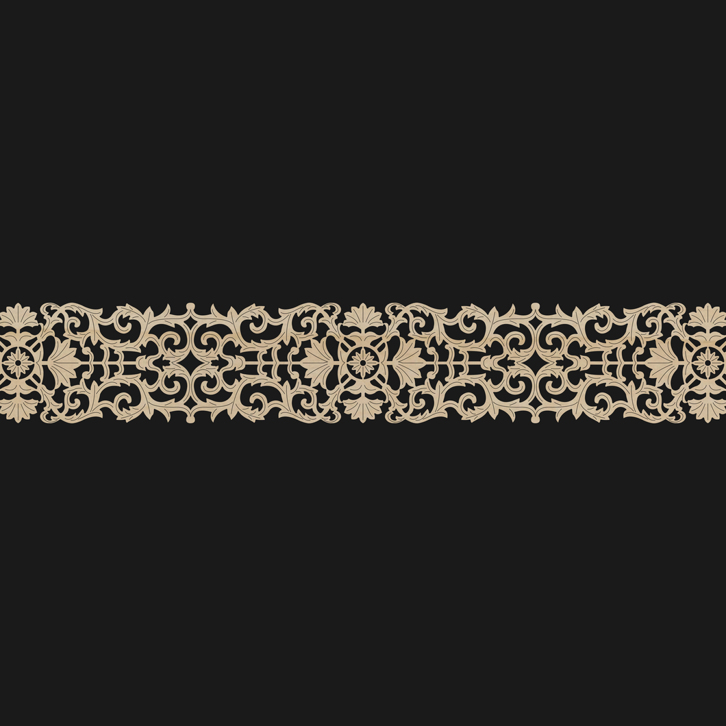 Moroccan Decorative Laser Cut Craft Wood Work Border Panel (B-006)