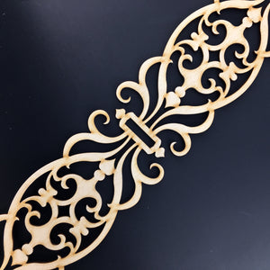 Moroccan Decorative Laser Cut Craft Wood Work Border Panel (B-013)