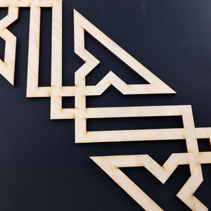 Moroccan Decorative Laser Cut Craft Wood Work Border Panel (B-024)