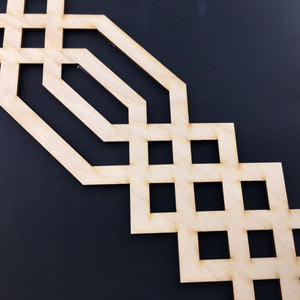 Moroccan Decorative Laser Cut Craft Wood Work Border Panel (B-025)