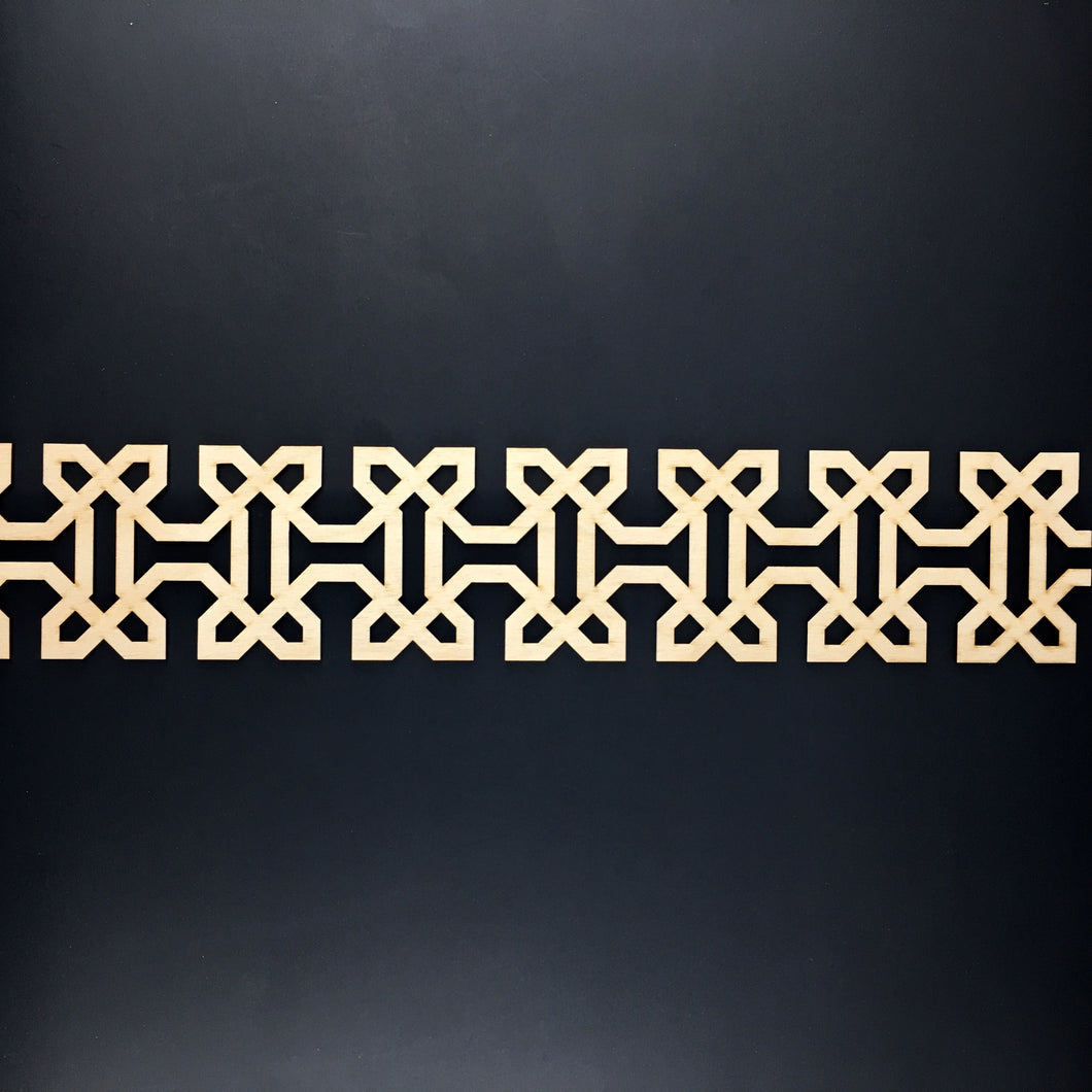 Moroccan Decorative Laser Cut Craft Wood Work Border Panel (B-028)