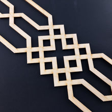 Load image into Gallery viewer, Moroccan Decorative Laser Cut Craft Wood Work Border Panel (B-029)