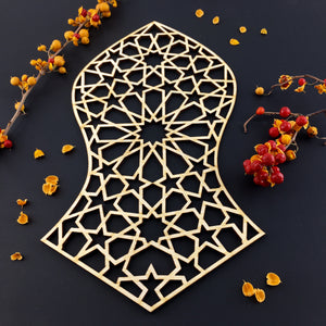 Decorative Laser Cut Wood Work Craft Center Piece Ornament (O-013)