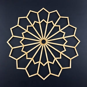 Decorative Laser Cut Wood Work Craft Center Piece Ornament (O-016)