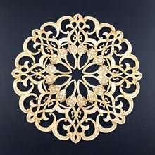Load image into Gallery viewer, Decorative Laser Cut Wood Work Craft Center Piece Ornament (O-017)