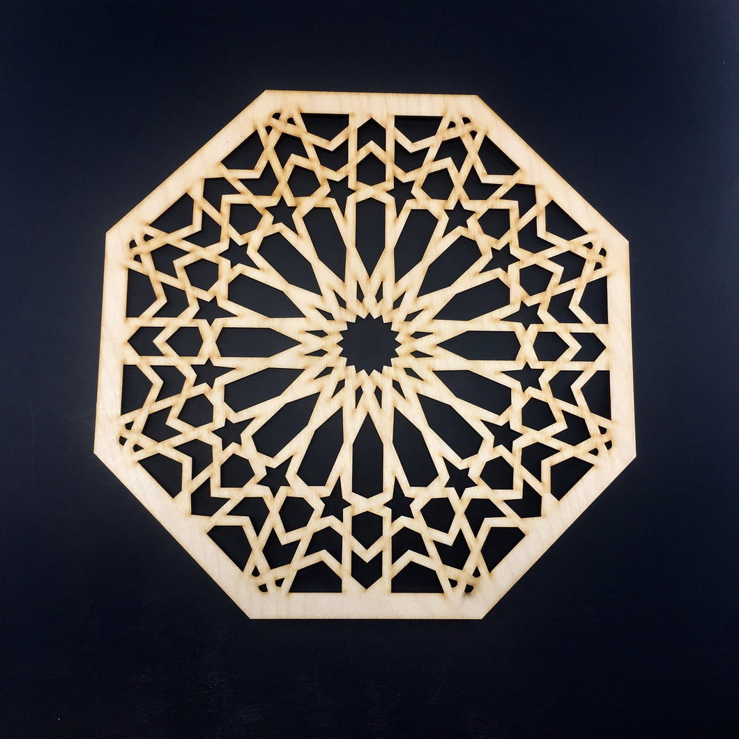 Decorative Laser Cut Wood Work Craft Center Piece Ornament (O-032)
