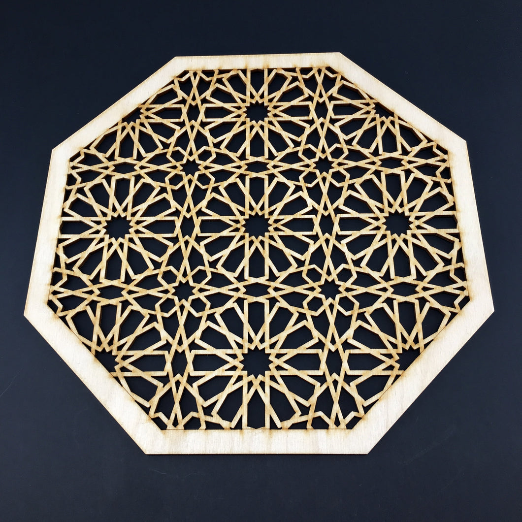Decorative Laser Cut Wood Work Craft Center Piece Ornament (O-035)